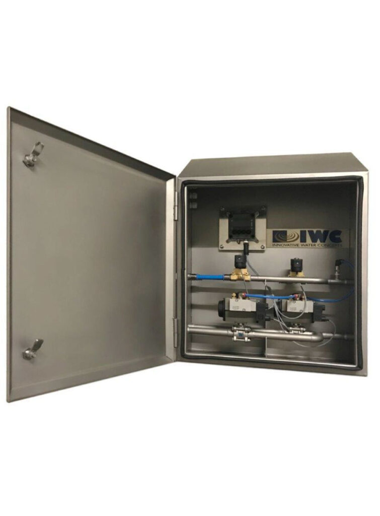 PLC for automatic foaming in IP69 protection cabinet - IWC